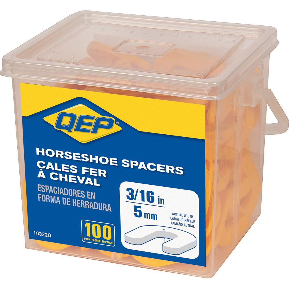 QEP 3/16 inch Horseshoe Tile Spacers (Pail of 100)