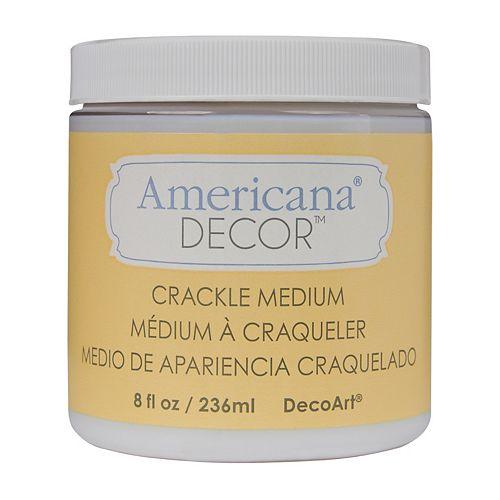 DecoArt Americana Crackle Medium 8oz Clear