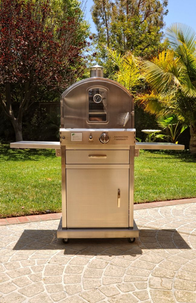 Pacific Living Stainless Steel Pizza Oven With Cart Stand