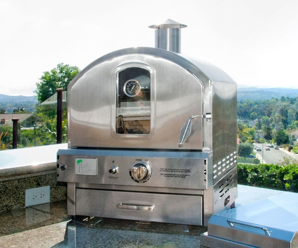 Pacific Living Stainless Steel Pizza Oven