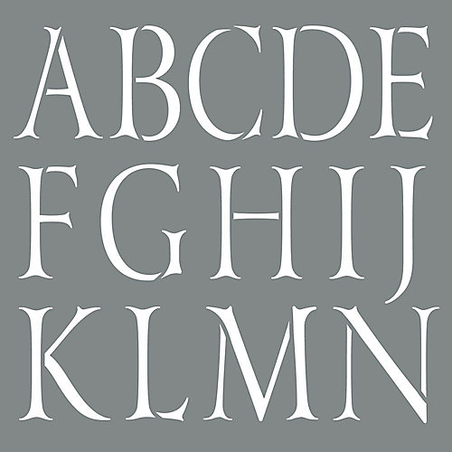 Stencil 10 Inch Classic Alphabet