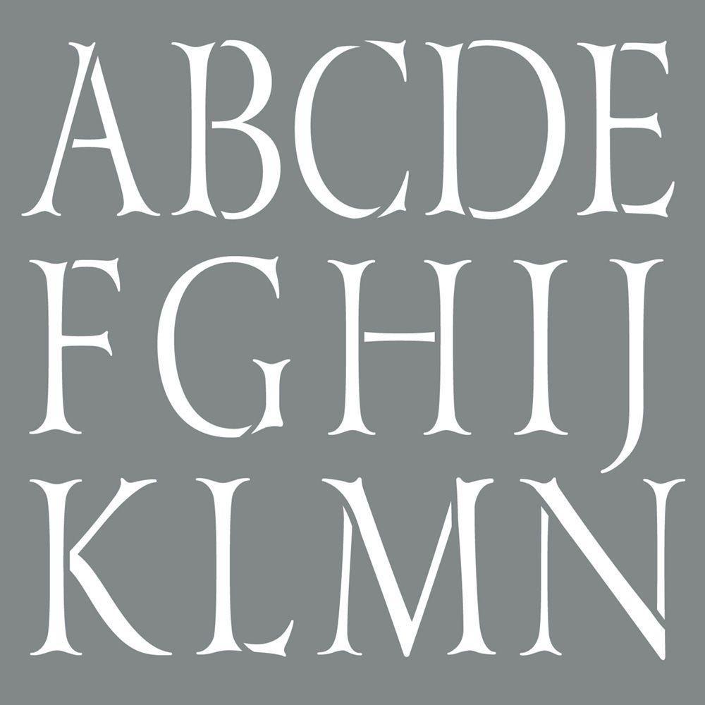 DecoArt Stencil 10 Inch Classic Alphabet