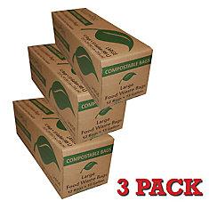 Carton of 49L Compostable Bags (12 Bags per Carton, 3-Pack)