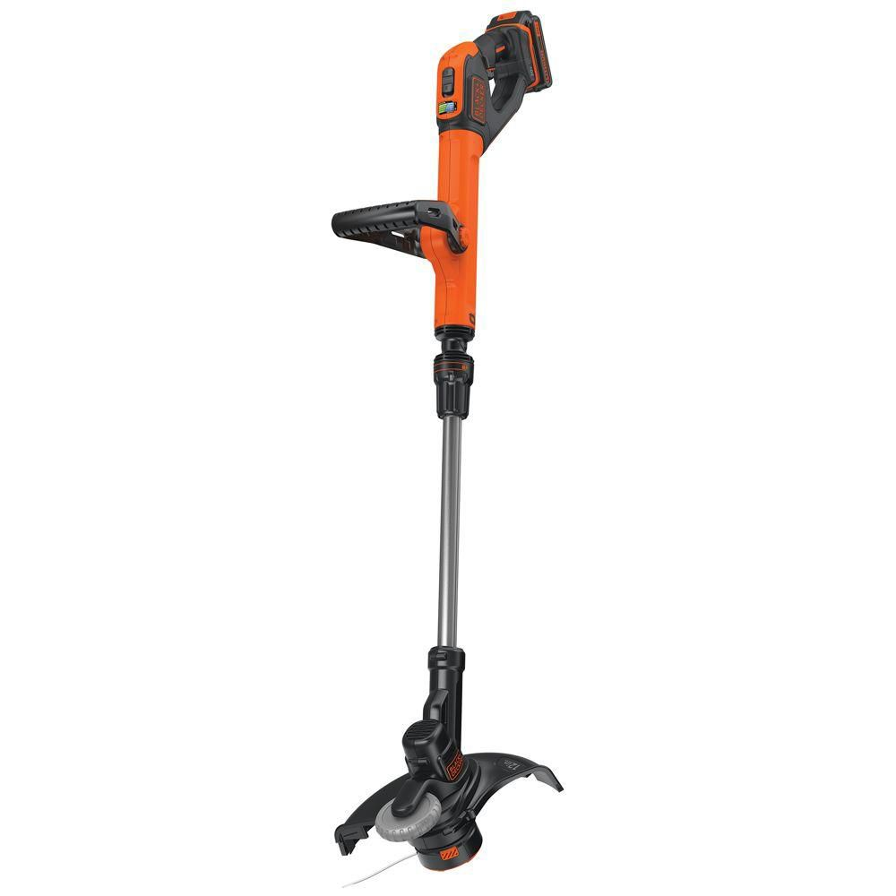 Black & Decker 12-inch 20V MAX Lithium-Ion Cordless 2-in-1 String Trimmer/Lawn Edger with Battery and Charger