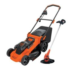 BLACK+DECKER 20-inch Corded Electric Mower and 13-inch String Trimmer Combo Kit