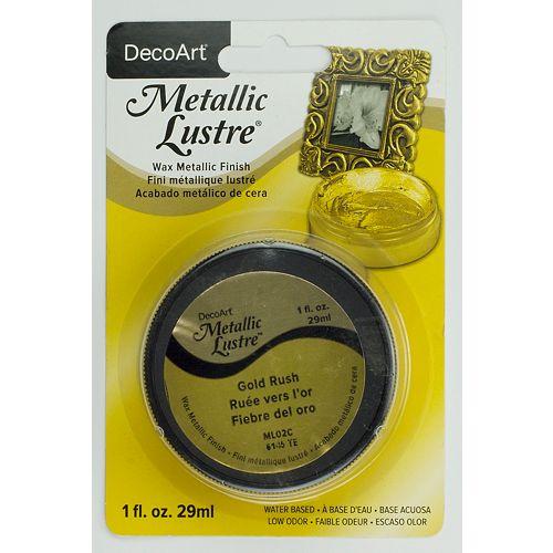DecoArt Metallic Lustre Pot 1oz -Gold Rush