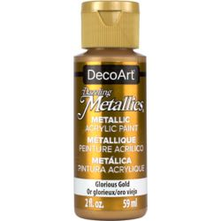 DecoArt Metallic Paint 2oz -Glorious Gold