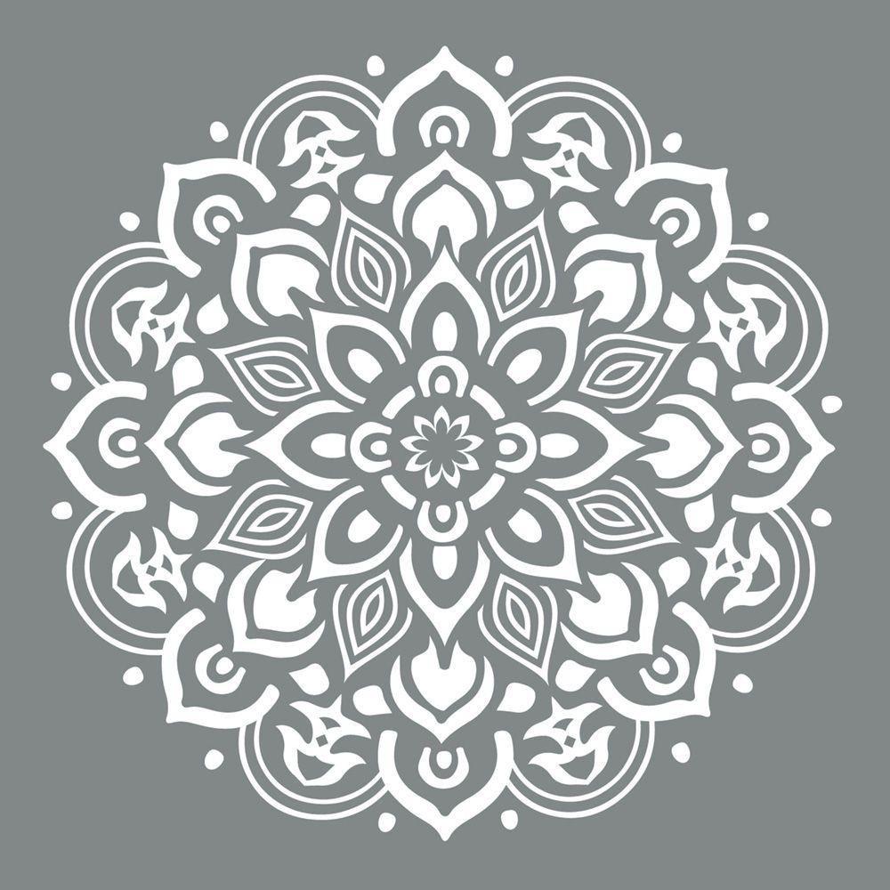 DecoArt Americana Decor 10-inch x 10-inch Mandala Stencil