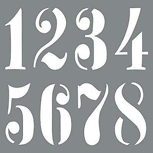 Stencil 10 inch Vintage Numbers