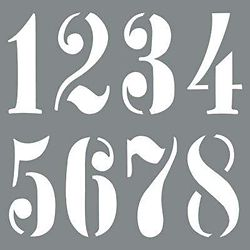 DecoArt Stencil 10 inch Vintage Numbers