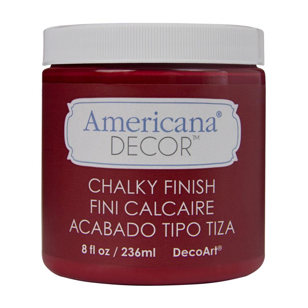 DecoArt Chalky Finish Paint 8oz -Rouge