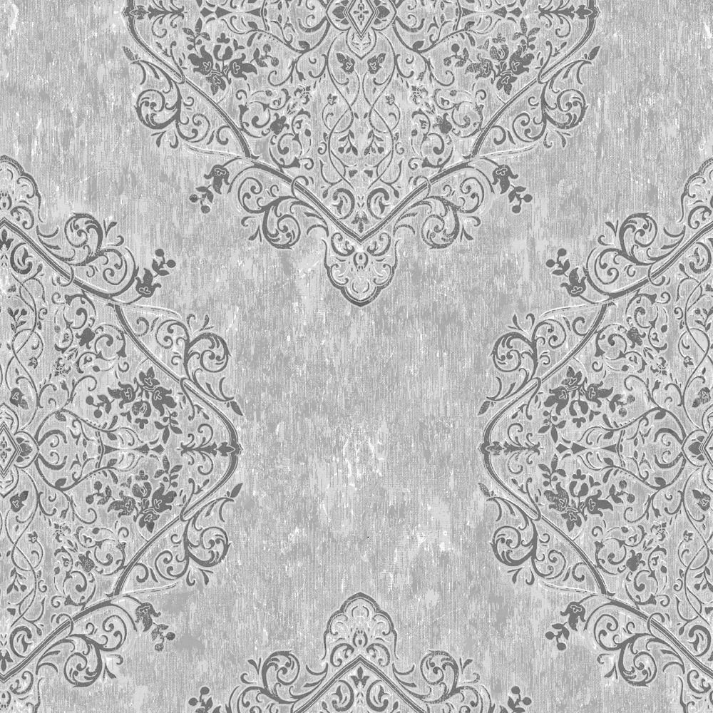 Graham Amp Brown Regent Charcoal Grey Wallpaper The Home