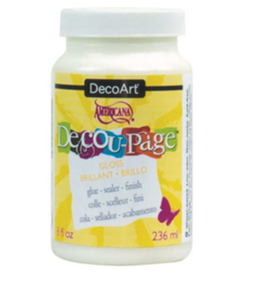 DecoArt Decu-Page Glue-Sealer 8oz -Gloss