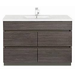 Cutler Kitchen & Bath Meuble-lavabo Karoo Ash de 48po de la collection Boardwalk avec lavabo simple