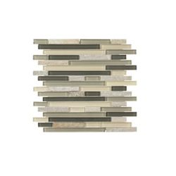 Jeffrey Court 11.75-inch x 11.75-inch x 6 mm Glass Mosaic Tile in Bootstrap
