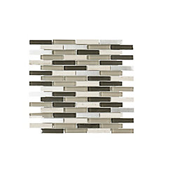 Jeffrey Court 13.125-inch x 11.875-inch x 6 mm Stone/Glass Mosaic Tile in Siverton Forrest