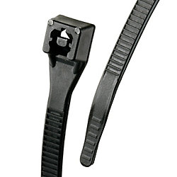 Gardner Bender Serre-câble Xtreme, 8 po, noir, 100 unités