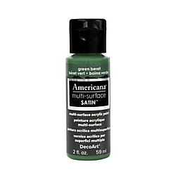 DecoArt Multi-Surface Satin Acrylic Paint 2oz -Green Beret
