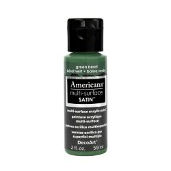 DecoArt Multi-Surface Satin Acrylic Paint 2oz -Green Beret