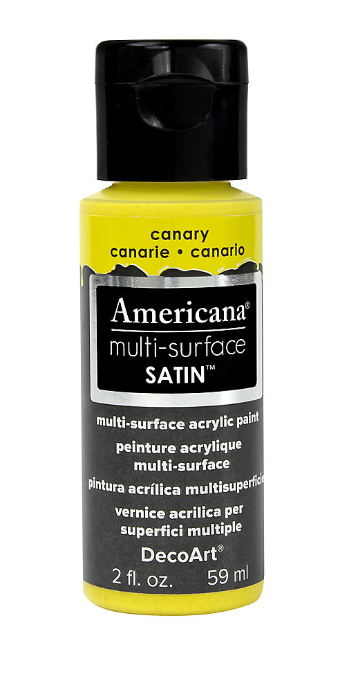 Decoart Multi Surface Satin Acrylic Paint 2oz Canary
