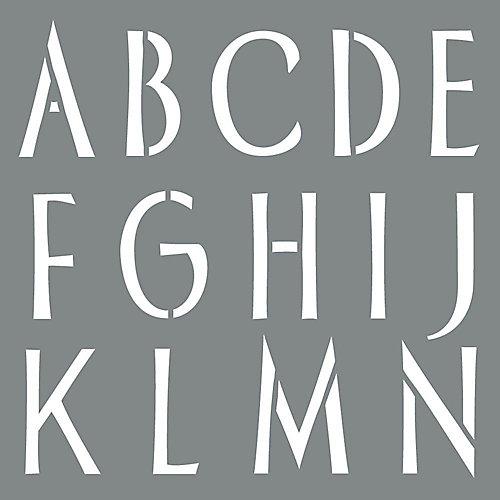 Stencil 6 inch Sleek Alphabet