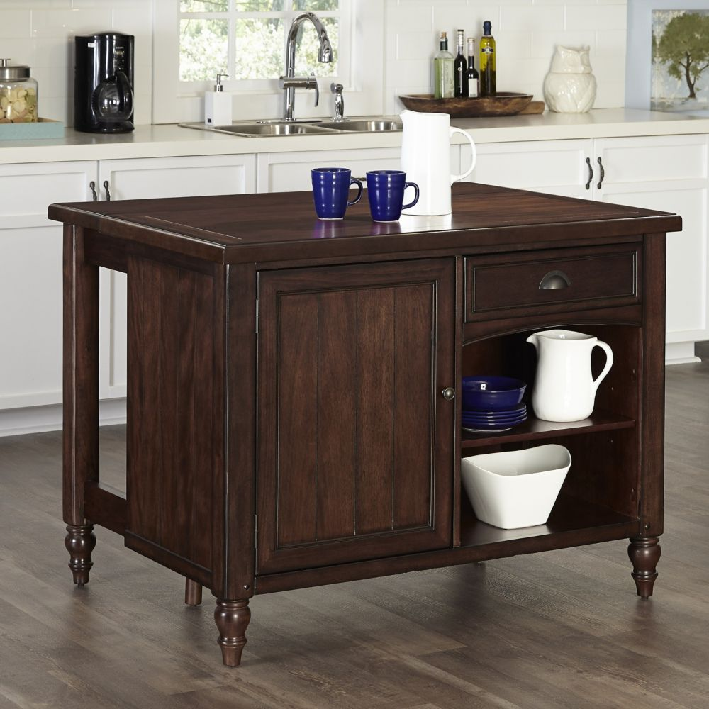 Country Comfort Kitchen Island w/ Wood Top