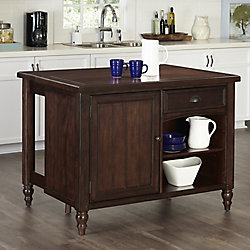 Home Styles Country Comfort Kitchen Island w/ Wood Top