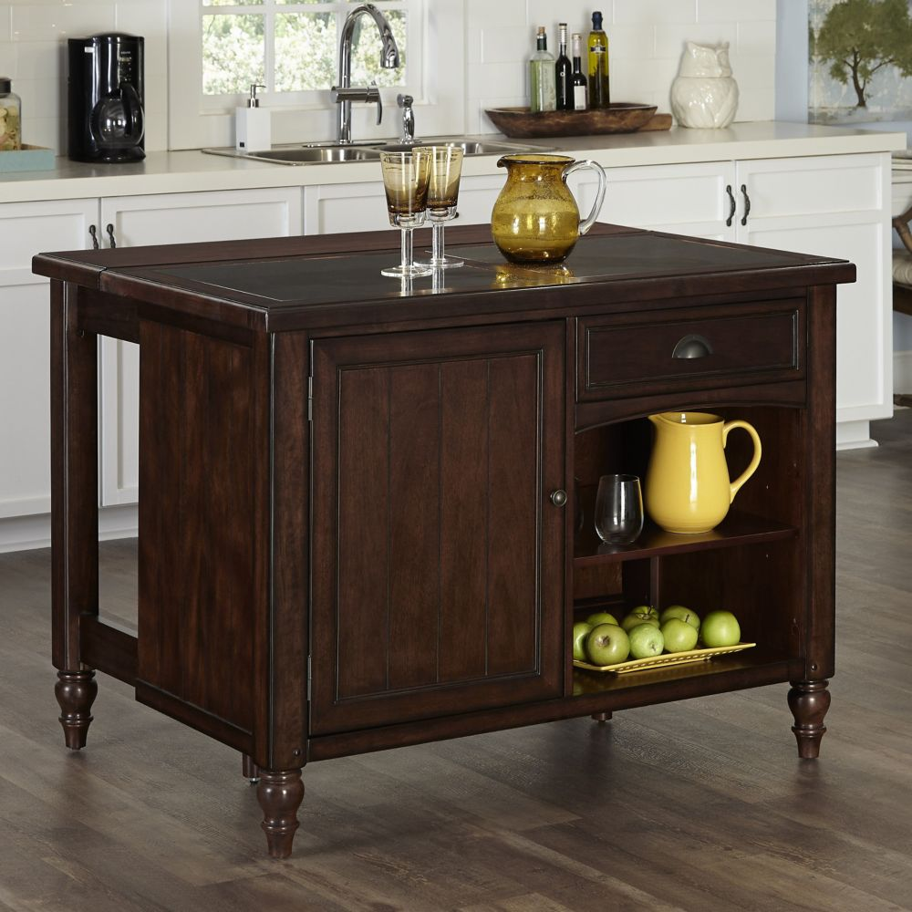 Country Comfort Kitchen Island w/ Granite Top