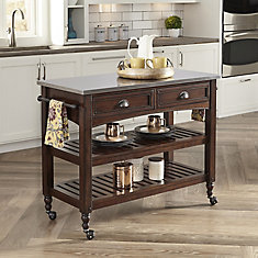 Home Styles Orleans Kitchen Island With Wood Top