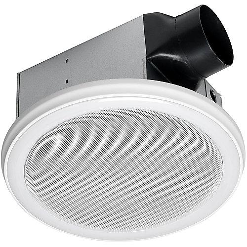 Ventilateur de salle de bain avec haut-parleur Bluetooth et éclairage à DEL