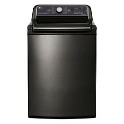 LG Electronics 27-inch W 6.0 cu. ft. Top-Load Washer with Steam Function and TurboWash 2.0 in Black Stainless Steel - ENERGY STAR®
