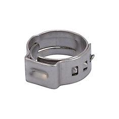 Bride de serrage PEX en acier inoxydable, 3/8 po, (10 par paquet)
