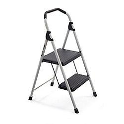 Gorilla Ladders Escabeau en acier léger, 2 marches