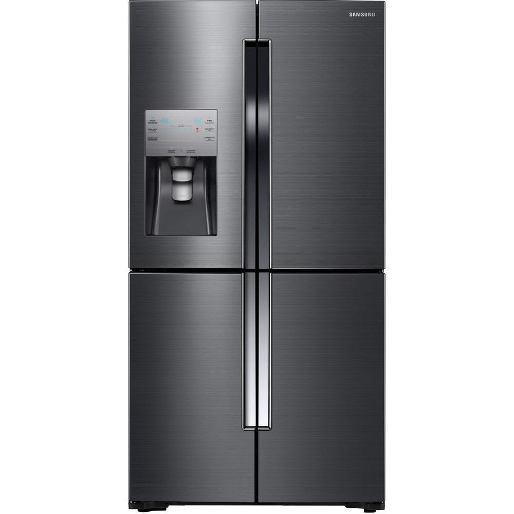 23 cu.ft. 4 Door French Door Black Stainless Steel Refrigerator Convertible Zone - RF23J9011SG