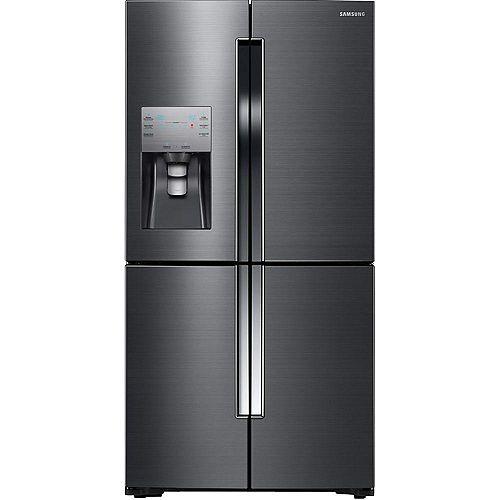 Samsung Réfrigérateur à porte française de 36 po L 22,5 pi³ en acier inoxydable noir résistant aux empreintes digitales - ENERGY STAR®