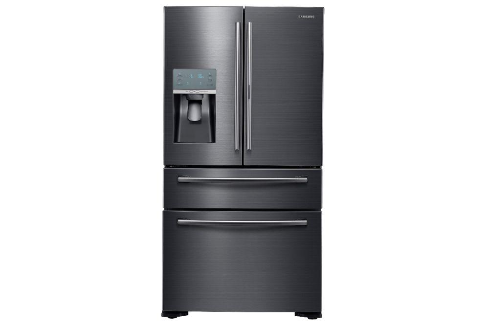 24 cu.ft. 4 Door Counter Depth Black Stainless Steel Refrigerator Food ShowCase - RF22KREDBSG