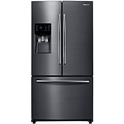 36-inch 25 cu. ft. Bottom Freezer French Door Refrigerator in Black Stainless Steel - ENERGY STAR®