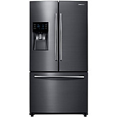36-inch 25 cu. ft. Bottom Freezer French Door Refrigerator in Black Stainless Steel - ENERGY STAR®