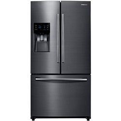Samsung Réfrigérateur à porte française de 36 po L 24,6 pi3 en acier inoxydable noir résistant aux empreintes digitales - ENERGY STAR®