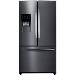Samsung 36-inch W 24.6 cu. ft. French Door Refrigerator in Fingerprint Resistant Black Stainless - ENERGY STAR®