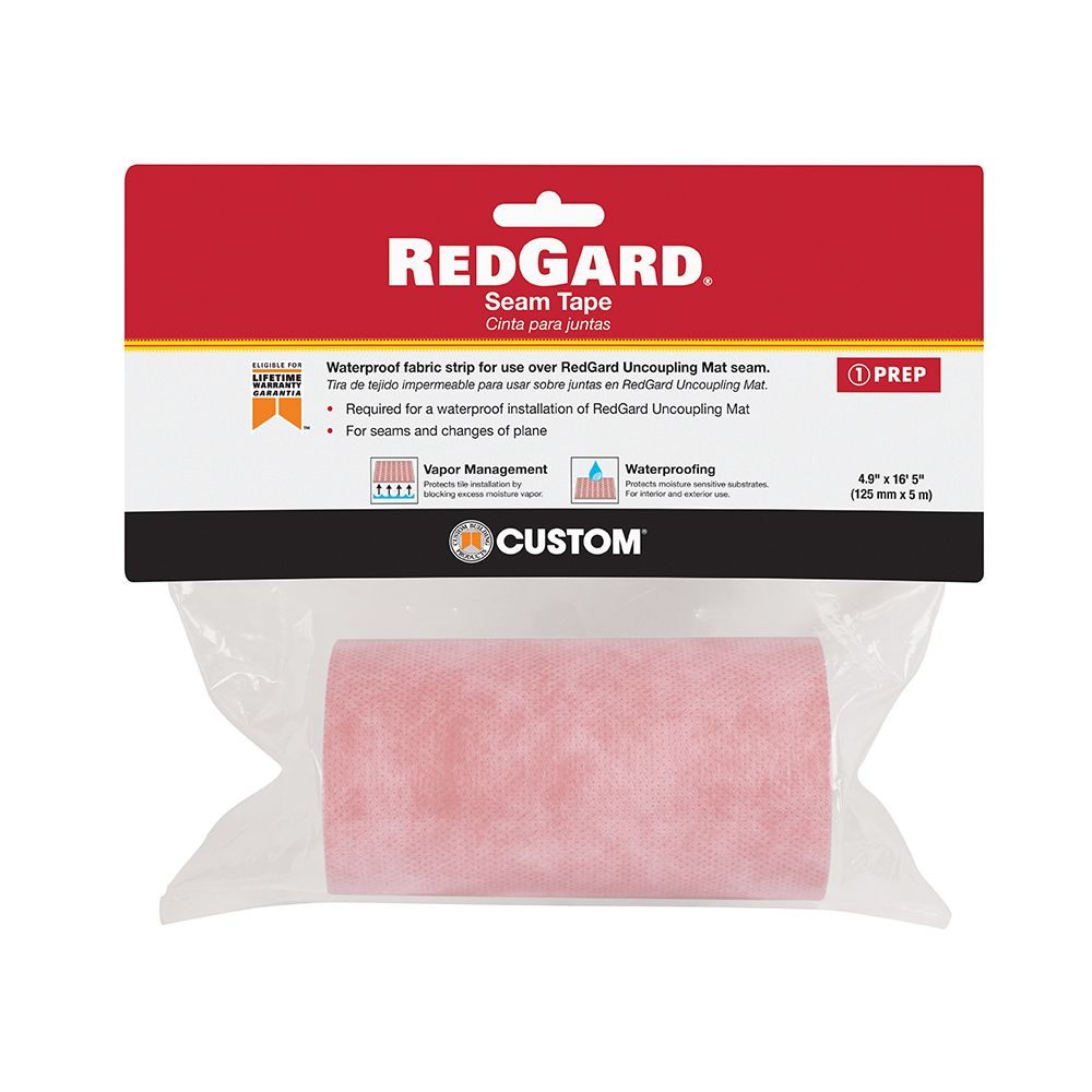 Custom Building Products RedGard 6.84 sq. ft 5 inch x 16.5 ft Seam Tape for Uncoupling Mat Underlayment
