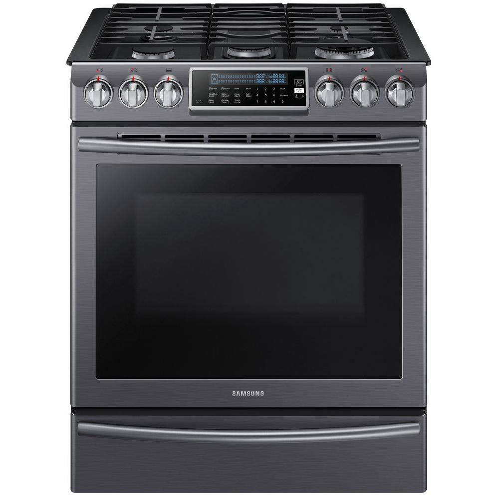Samsung Gas Range with 18K Dual Power Burner, 5.8 cu.ft NX58K9500WG