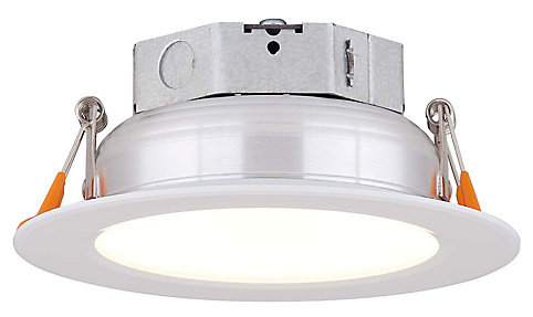 canarm ltd 4 inch led white recessed kit the home depot canada