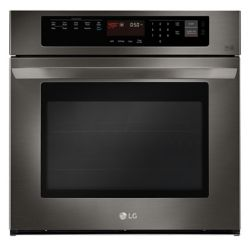 LG Electronics 4.7 cu. ft. Single Wall Oven with EasyClean in Black Stainless Steel