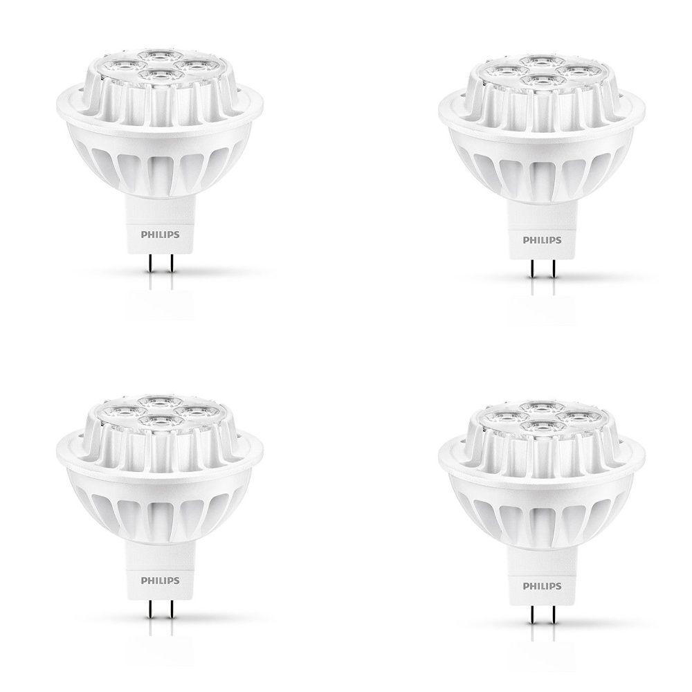 MR16 DEL à faisceau large d'intérieur 8.5W = 50W (3000K) - Cas de 4 Ampoules