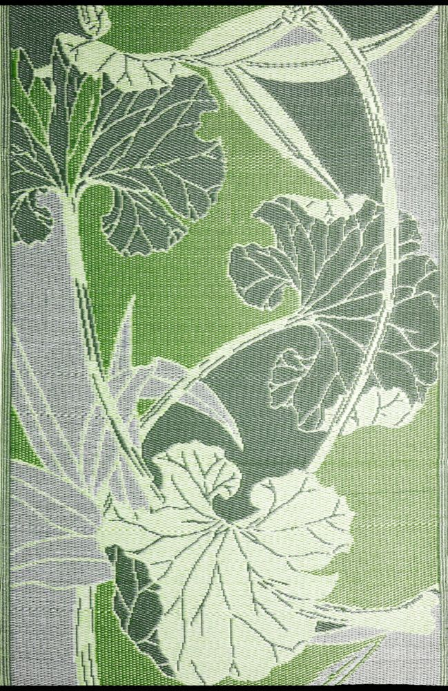 Blossom Green/Grey 5 ft. x 8 ft. Outdoor Reversible Area Rug