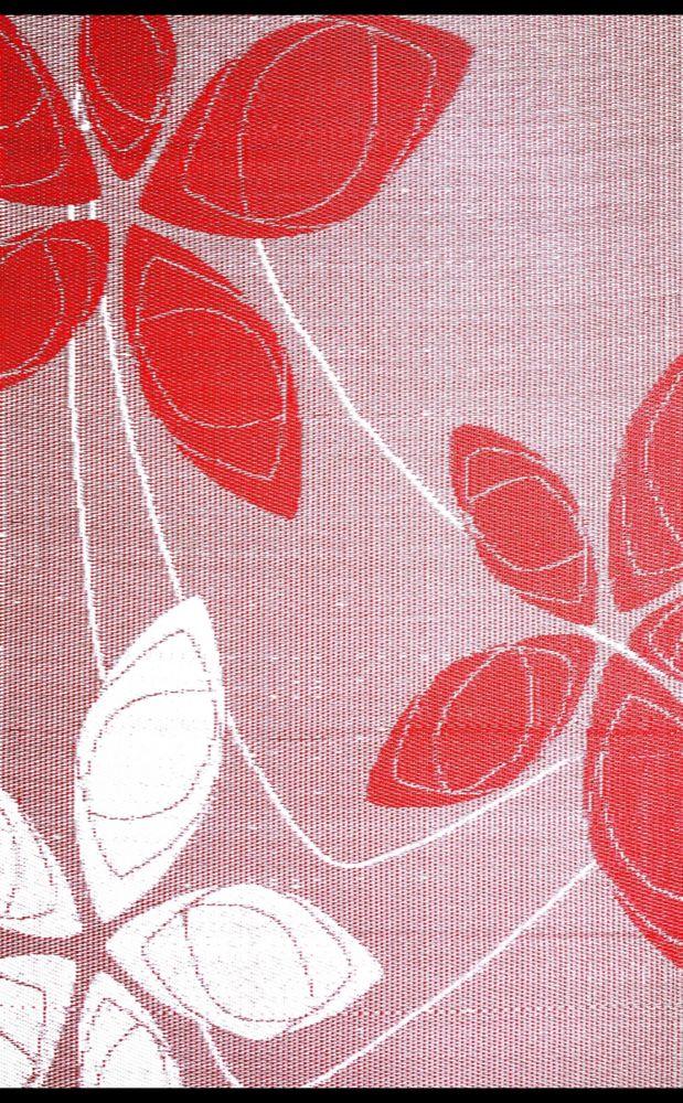 Carpette DExtérieur Reversible Alaska de 4 x 6 pieds Rouge/Blanc