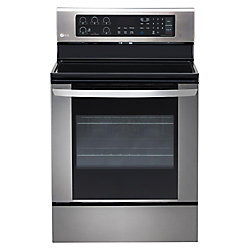 6.3 cu. ft. Electric Single Oven Range with True Convection and EasyClean in Stainless Steel