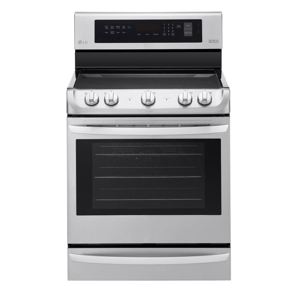LG Electronics 6.3 cu. ft. Electric Single Oven Range with ProBake Convection and EasyClean in Stainless Steel