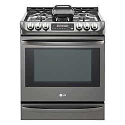 LG Electronics 6.2 cu. ft. Gas Slide-In Range Single Oven with ProBake Convection in Black Stainless Steel